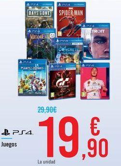 Oferta de Juegos PS4  por 19,9€