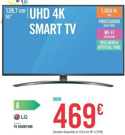 Oferta de TV 55UM7400 LG por 469€