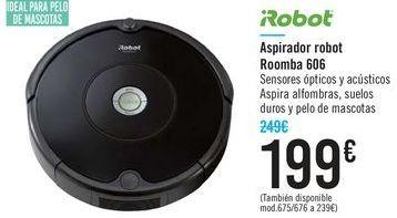 Oferta de Aspirador robot Roomba 606 iRobot  por 199€