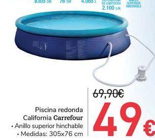 Oferta de Piscina redonda California Carrefour  por 49€