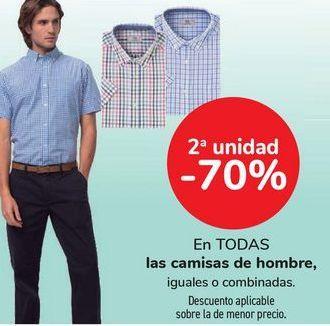 Oferta de En TODAS las camisas de hombre, iguales o combinadas  por