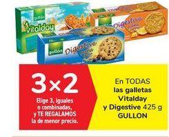 Oferta de En TODAS las galletas Vitalday y Digestive GULLON por