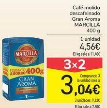Oferta de Café molido descafeinado Gran Aroma MARCILLA por 4,56€