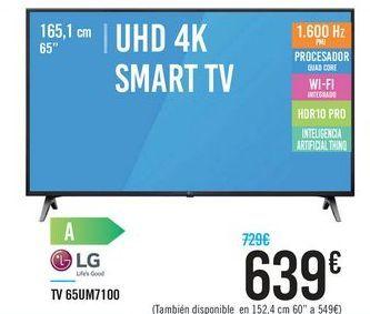 Oferta de TV 65UM7100 por 639€