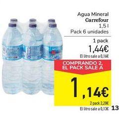 Oferta de Agua Mineral Carrefour por 1,44€