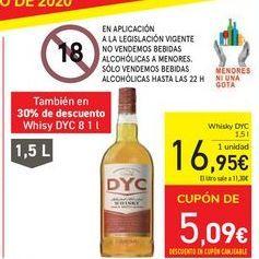 Oferta de Whisky DYC por 19,95€