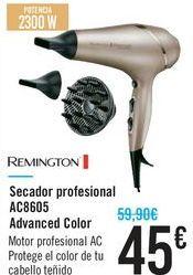 Oferta de Secador profesional AC8605 Advanced Color Remington por 45€