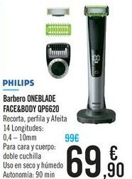 Oferta de Barbero ONEBLADE FACE&BODY QP6620 por 69,9€