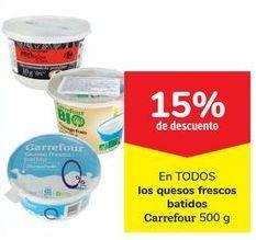 Oferta de En TODOS los quesos frescos batidos Carrefour por