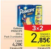 Oferta de Galletas PRÍNCIPE por 4,28€
