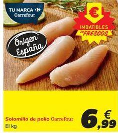 Oferta de Solomillo de pollo Carrefour por 6,99€