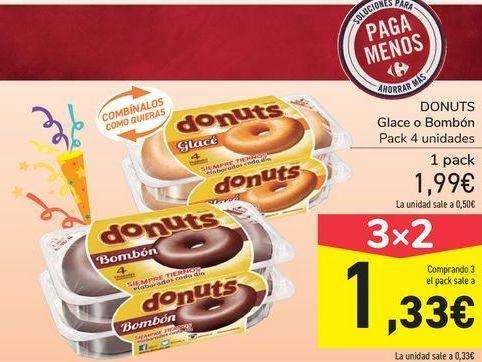 Oferta de DONUTS Glacé o Bombón por 1,99€