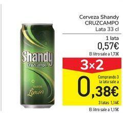 Oferta de Cerveza Shandy CRUZCAMPO por 0,57€