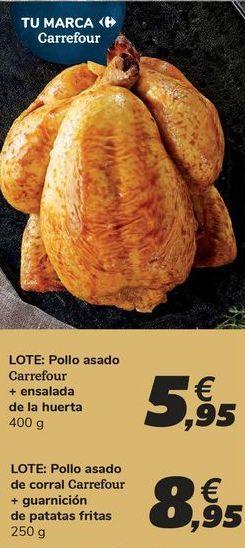 Oferta de LOTE: Pollo asado+ ensalada de la huerta por 5,95€
