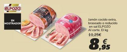Oferta de Jamón cocido extra, braseado o reducido en sal EL POZO por 8,95€