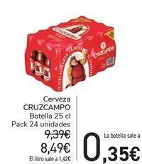 Oferta de Cerveza Cruzcampo por 0,35€