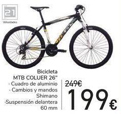 Oferta de Bicicleta MTB COLUER 26'' por 199€
