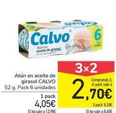 Oferta de Atún en aceite de girasol CALVO por 4,05€