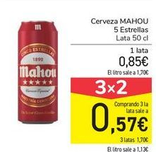 Oferta de Cerveza MAHOU 5 estrellas  por 0,85€