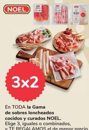 Oferta de En TODA la Gama de sobres loncheados cocidos y curados NOEL por