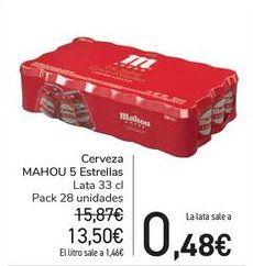 Oferta de Cerveza MAHOU 5 Estrellas  por 13,5€
