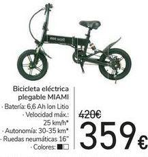 Oferta de Bicicleta eléctrica plegable MIAMI  por 359€