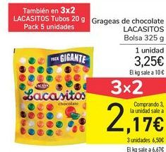 Oferta de Grageas de chocolate LACASITOS por 3,25€