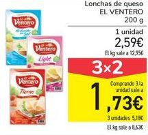 Oferta de Lonchas de queso EL VENTERO por 2,59€