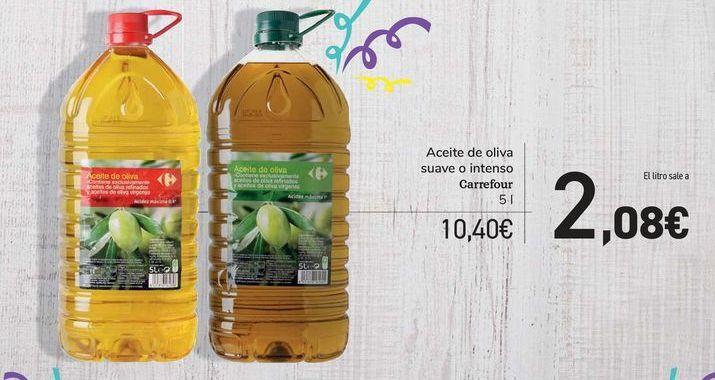 Oferta de Aceite de oliva suave o intenso Carrefour por 10,4€