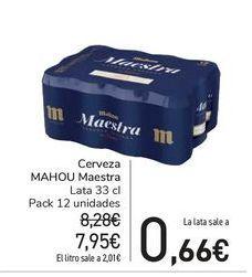 Oferta de Cerveza MAHOU Maestra por 7,95€
