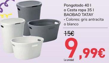 Oferta de Pongotodo o Cesta Ropa BAOBAO TATAY por 9,99€