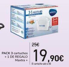 Oferta de Pack 3 cartuchos + 1 de regalo Maxtra  por 19,9€