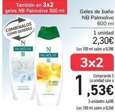 Oferta de Geles de baño NB Palmolive por 2,3€
