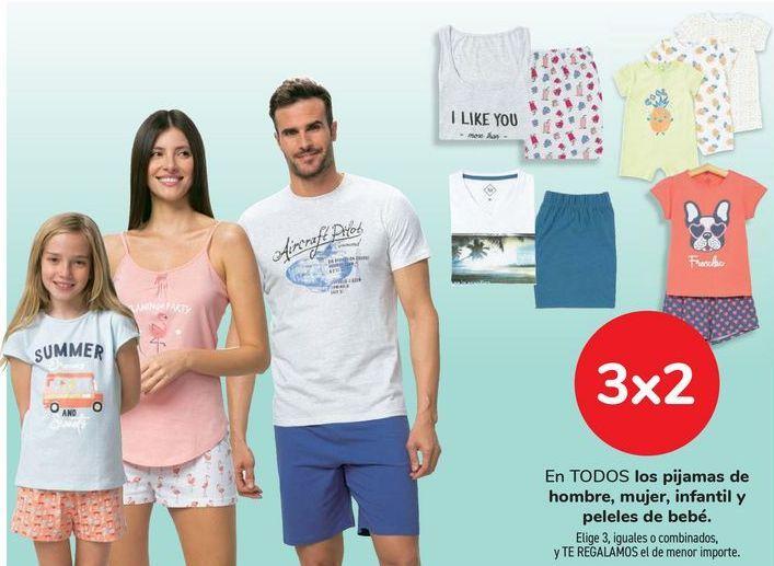 Oferta de En TODOS los pijamas de hombre, mujer, infantil y bebé. iguales o combinados  por