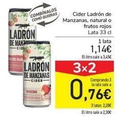 Oferta de Cider Ladrón de Manzanas, natural o frutos rojos por 1,14€