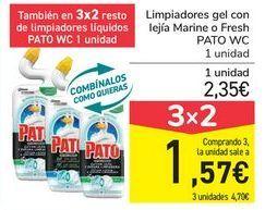 Oferta de Limpiadores gel con legía Marine o Fresh PATO WC  por 2,35€