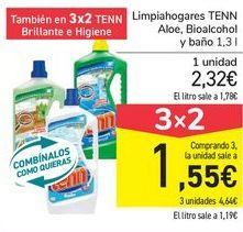 Oferta de Limpiahogares TENN Aloe, Bioalcohol y baño  por 2,32€