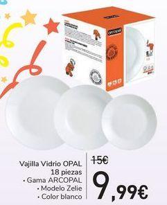 Oferta de Vajilla vidrio Opal 18 piezas por 9,99€