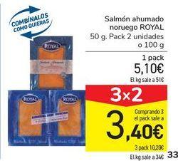 Oferta de Salmón ahumado noruego ROYAL por 5,1€