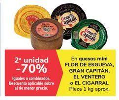 Oferta de En quesos mini FLOR DE ESGUEVA, GRAN CAPITÁN, EL VENTERO o EL CIGARRAL por