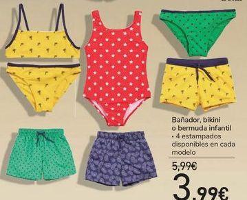 Oferta de Bañador, bikini o bermuda infantil  por 3,99€