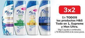 Oferta de En TODOS los productos H&S Todo en 1, Supreme y Men Ultra, Elige 3, iguales o combinados, y TE REGALAMOS el de menor precio por