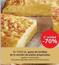 Oferta de En TODA la gama de tortillas de la sección de platos preparados por
