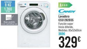 Oferta de Lavadora CSS1282D3S CANDY  por 329€