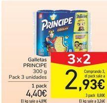 Oferta de Galletas PRÍNCIPE por 4,4€