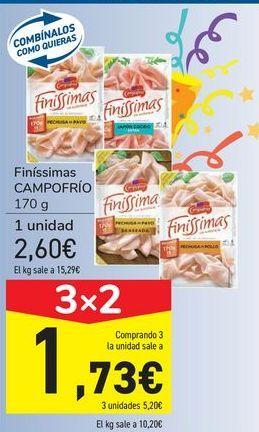 Oferta de Finíssimas CAMPOFRÍO por 2,6€