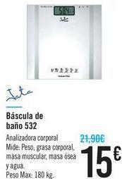 Oferta de Báscula de baño 532 Jata  por 15€