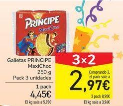 Oferta de Galletas PRÍNCIPE MaxiChoc por 4,45€