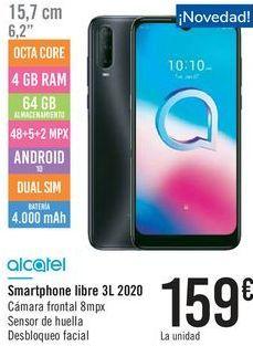 Oferta de Smartphone libre 3l 2020 Alcatel por 159€