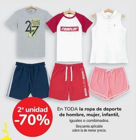 Oferta de En TODA la ropa de deporte de hombre, mujer, infantil, iguales o combinados  por